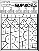Back to School Activities Color by Code Numbers 1-10