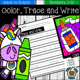 Back to School: Color by Numbers Writing Practice