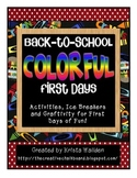 Back to School {Colorful First Days} Unit and Craftivity