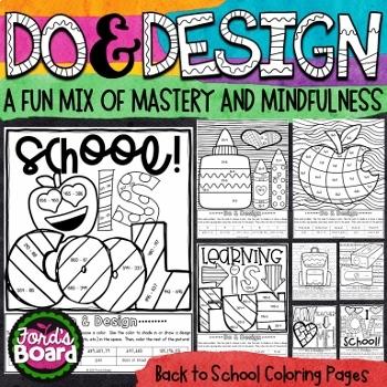 Back to School Coloring Activities Bundle