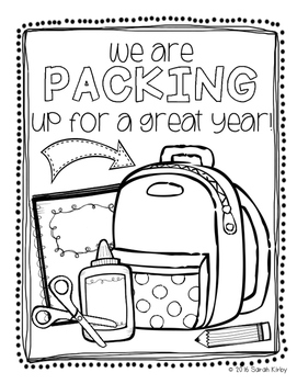 Back to School Coloring Freebie