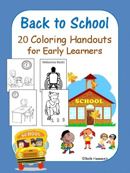 Back to School Coloring Handouts for Early Learners