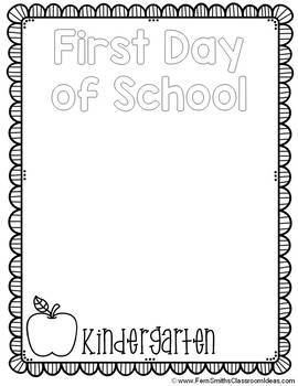 Back to School Coloring Page First Day of School & Last Day of School All Grades