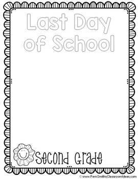 Back to School Coloring Page First Day of School & Last Day of School Freebie
