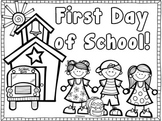 Back to School Coloring Page~ {Freebie}