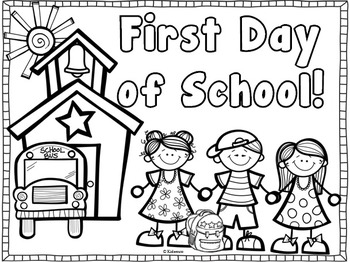 Back To School Coloring Pages For First Grade Impressive Back To School Coloring Page~ Freebiecreative Lesson Cafe  Tpt
