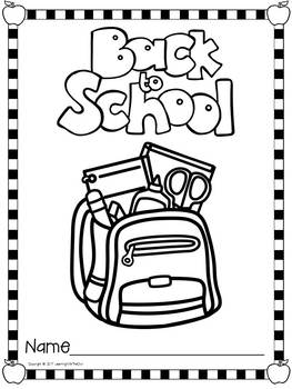 Back to School Coloring Pages FREEBIE