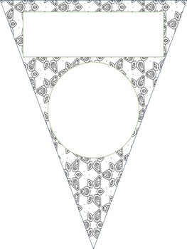 Back to School Coloring Pennant