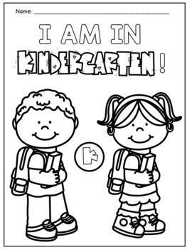 First Day of Kindergarten Activities