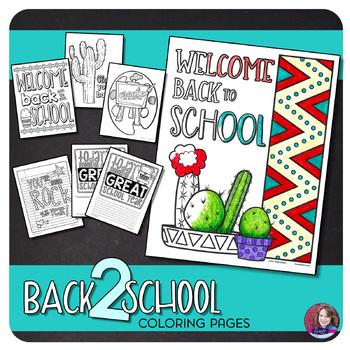 Back to School Coloring Sheet {FREEBIE}
