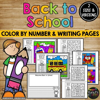 Back to School Coloring Sheets and Writing Pages
