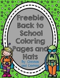 Back to School Coloring Sheets and a Hat
