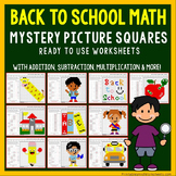First Day Of School Math Activities, Beginning Of Year Coloring Pages Bundle
