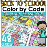 Back to School Coloring Worksheets Number Sense 0-5 Colori