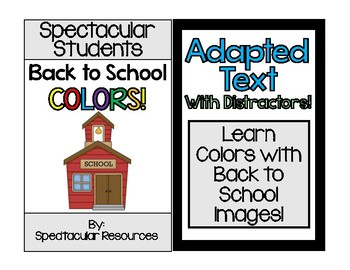 Back to School Colors Adapted Text