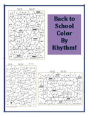 Back to School Colour by Rhythm - Apple, Blackboard, and P