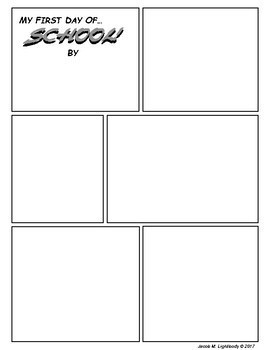 Back to School Comics Template