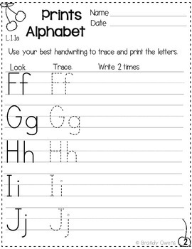 Back to School Common Core Language Freebie First Grade L.1.1a