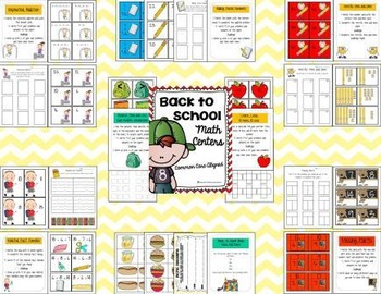 Back to School Common Core Math Centers