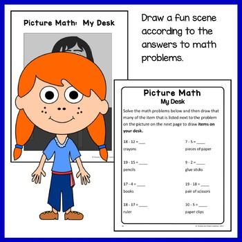 Back to School Math Puzzles - 1st Grade Common Core