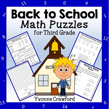 Back to School Math Puzzles - 3rd Grade Common Core