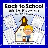 Back to School Math Puzzles - 5th Grade Common Core