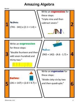 Back to School Common Core Math Skills Assessment (5th Grade)