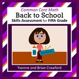 Back to School No Prep Math Assessment (5th Grade)
