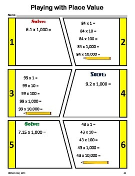 Back to School No Prep Math Assessment (5th Grade)