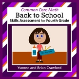 Back to School No Prep Math Assessment (4th Grade)