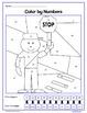 Back to School Color by Number (kindergarten) Color By Number, Addition & Shapes