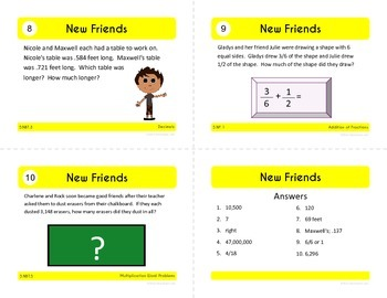 Back to School Task Cards - Fifth Grade Math