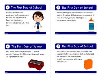 Back to School Task Cards - Sixth Grade Math