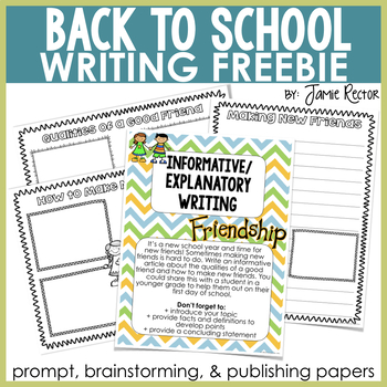 Back to School Common Core Writing FREEBIE