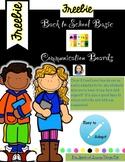 Back to School Communication Boards-FREEBIE