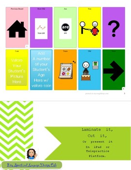 Back to School Communication Boards-Full Version