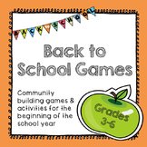 Back to School Games for Community Building