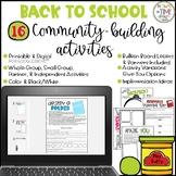 Back to School Community Building Activities   Fun Fridays