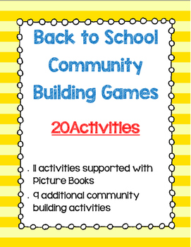 Back to School Community Building Games