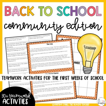 Back to School Community, Team building, Get to Know You, Icebreaker Activities