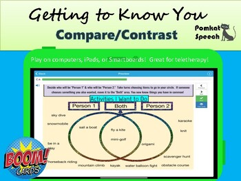 Getting to Know You Compare/Contrast Boom Cards