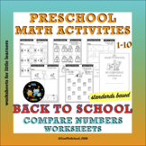Back to School Worksheets Compare Numbers 1-10