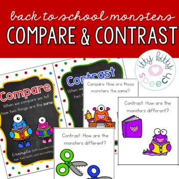 Back to School Compare and Contrast Monsters