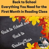 Back to School--Complete First Month for Reading Class