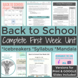 Back to School Complete First Week for High School English