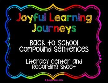 Back to School Compound Sentences