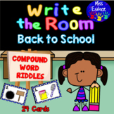 Back to School Compound Words Write the Room