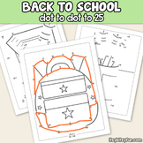 Back to School Connect the Dots - Dot to Dot Worksheets Counting to 25