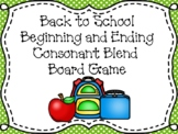 Back to School Consonant Blend Word Game and Sort