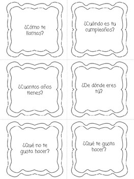 Back to School Conversation Cards SAMPLE Set